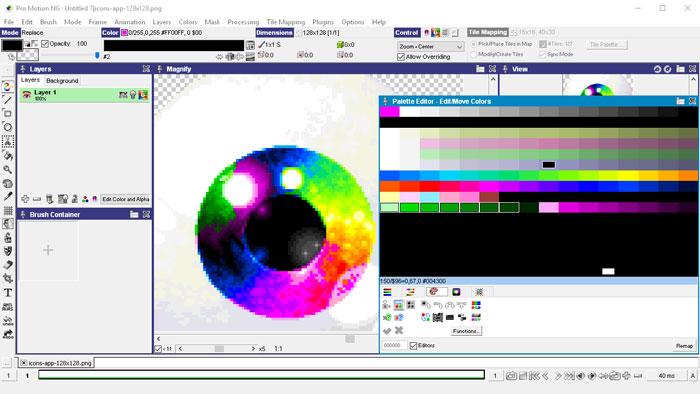 Advanced color palette editor