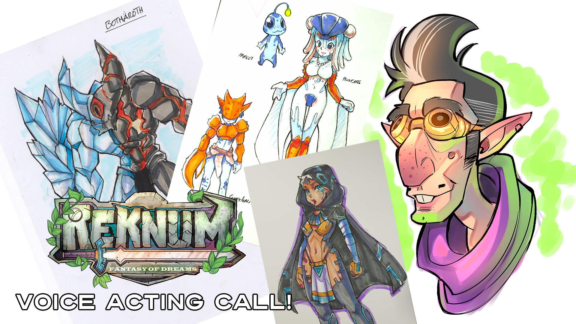 Voice acting call for Reknum Fantasy of Dreams
